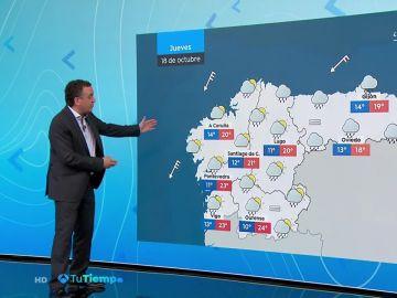 Este jueves se esperan chubascos fuertes y tiempo inestable en el área mediterránea