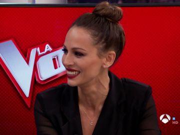 Eva González, presentadora de 'La Voz', en 'El Hormiguero 3.0'