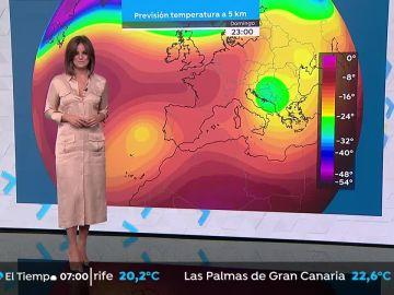 Temperaturas en aumento en la Península, salvo en Galicia y el noreste de Cataluña