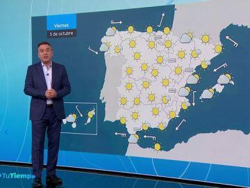 Temperaturas diurnas en descenso en el oeste de Galicia y en aumento en el Cantábrico oriental