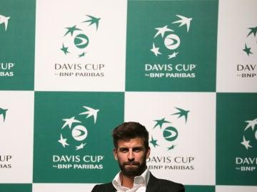 Gerard Piqué, en la presentación de la nueva Copa Davis