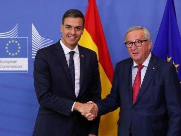 Pedro Sánchez y Jean Claude Juncker
