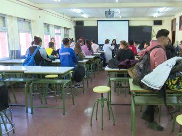 Alumnos en un aula de Bachillerato