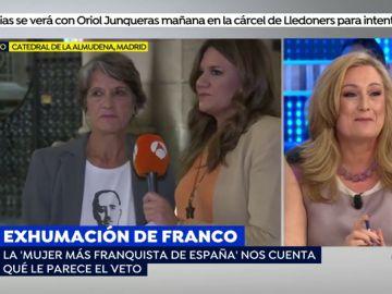"""Enfrentamiento entre Elisa Beni y 'la mujer más franquista de España': """"Elisa, Franco fue un santo comparado con Pedro Sánchez y contigo, hija"""""""