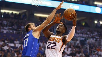 Luka Doncic, en acción ante los Suns