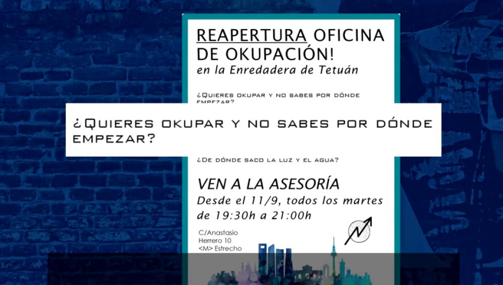 En Madrid imparten un taller para aprender a okupar casas