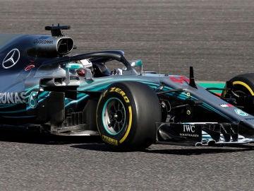 Hamilton, durante el GP de Japón