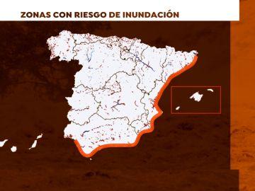 Mapa: Zonas que tienen riesgo de inundación