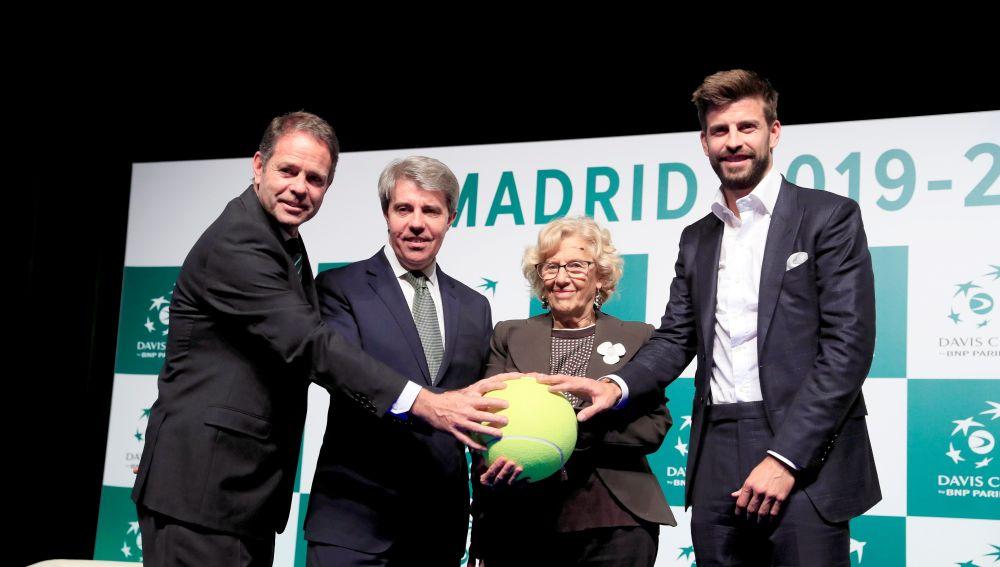 Gerard Piqué, en la presentación de la nueva Copa Davis de Madrid.