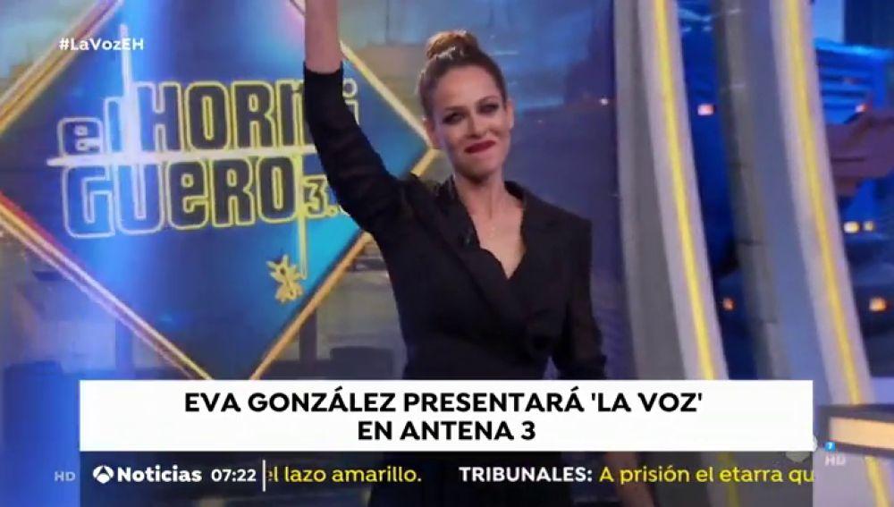 Eva González será la presentadora de 'La Voz' en Antena 3