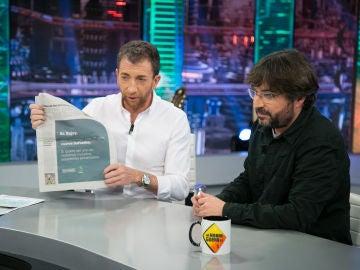 """Jordi Évole busca a Mariano Rajoy a través de 'Marca': """"La inversión más bestia"""""""