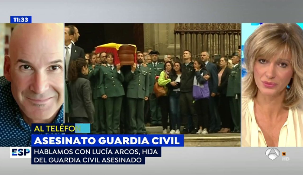 """La hija del guardia civil asesinado en Granada: """"No soy consciente de que no voy a volver a ver a mi padre"""""""