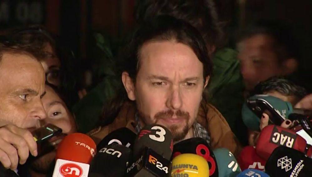 """Iglesias tras reunirse con Junqueras: """"Ahora quien tiene que moverse es el Gobierno"""""""