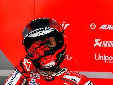Jorge Lorenzo durante los entrenamientos libres del GP de Japón