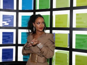 La cantante Rihanna, durante un acto