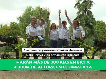 Pedaladas contra el cáncer de mama en el Annapurna: el increíble reto de cinco mujeres