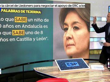 """La Consejera de Educación de la Junta de Andalucía: """"Hay diferencias entre las comunidades porque el informe no cubre todas las cuestiones que debería"""""""