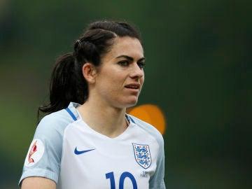 Karen Carney, durante un partido con la selección inglesa