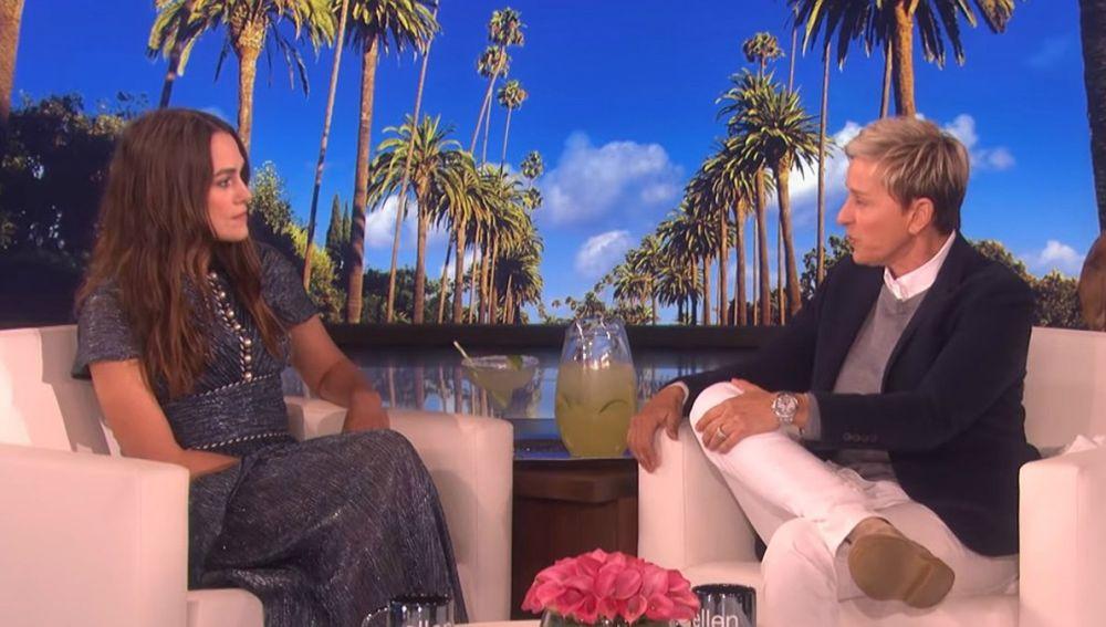 Keira Knightley, en el programa de Ellen Degeneres