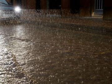 Imagen de las lluvias caídas este jueve