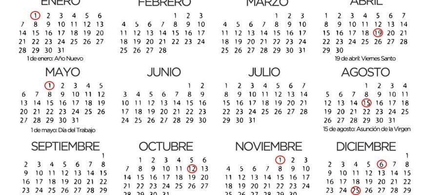 Calendario 2020 Pais Vasco.Calendario De Fiestas Nacionales 2020
