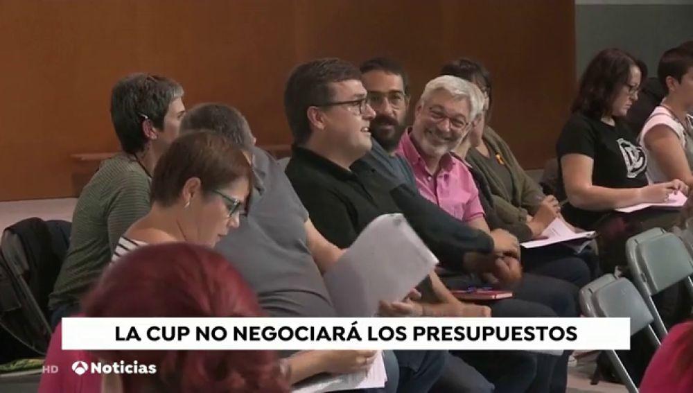 La CUP se niega a negociar los Presupuestos de la Generalitat y no apoyará al Govern