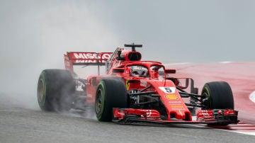 Vettel rueda en los Libres del GP de Estados Unidos
