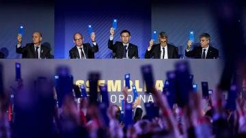 Los Socios Compromisarios del Barça votan 'sí'