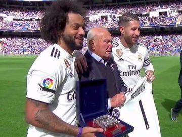 Agustín Herrerín, homenajeado por el Real Madrid