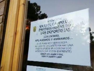 """El ejemplar y aplaudido cartel del Bertamirans: """"Los protagonistas son los chavales, los demás animamos"""""""