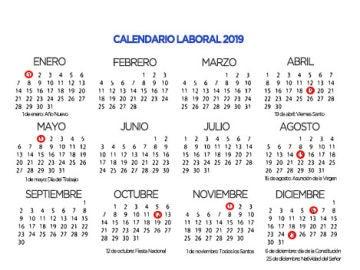 Calendario laboral 2019 portada antena 3