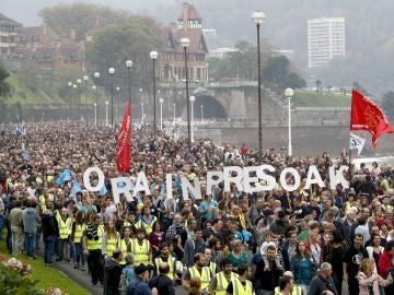 Manifestación a favor de los presos de ETA en San Sebastián