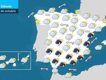 Quince provincias siguen en alerta por lluvias, aunque sólo Málaga está en nivel rojo