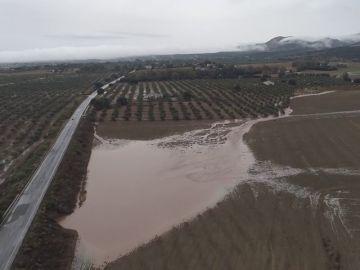 Las imágenes de Campillos tras las torrenciales lluvias, a vista de dron