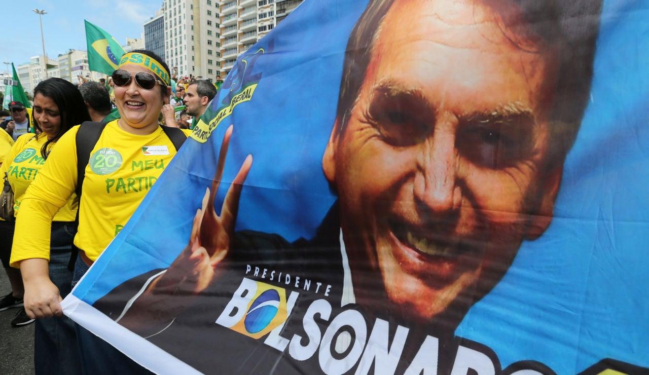 Manifestación a favor de Jair Bolsonaro en Río de Janeiro