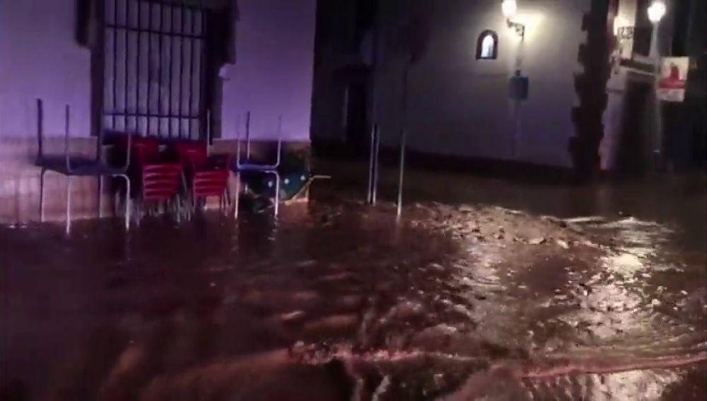 Intensas lluvias en Antequera, Málaga