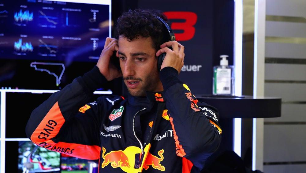 Ricciardo, durante el GP de México