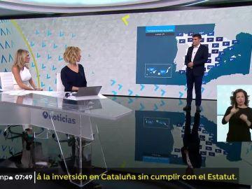 Temperaturas en ligero aumento en la Península y en descenso en Baleares y Canarias