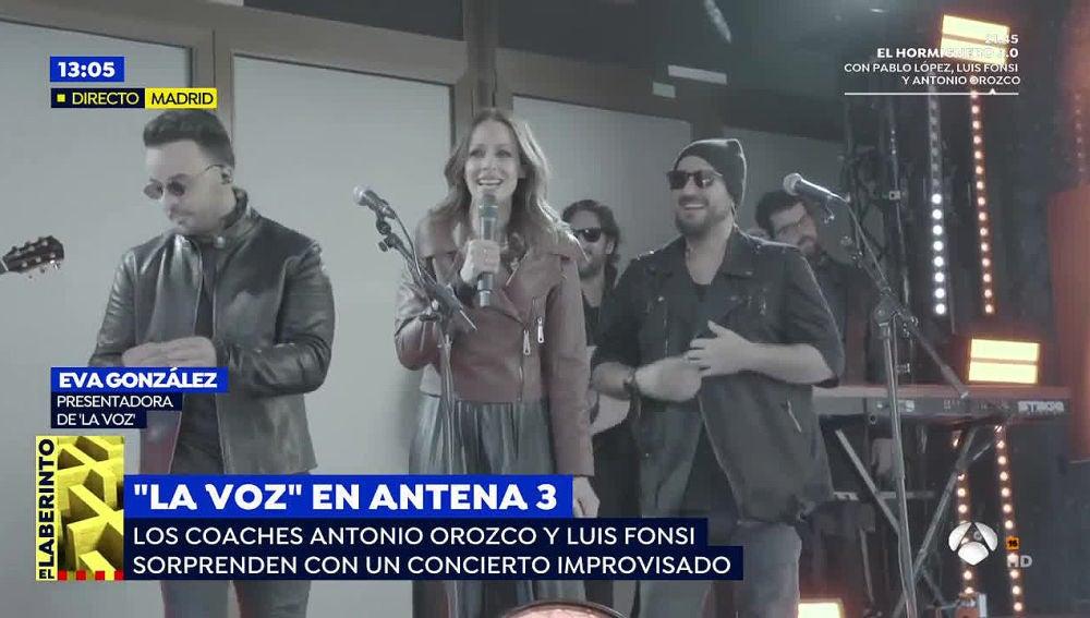 Evento musical sorpresa de 'La Voz'.