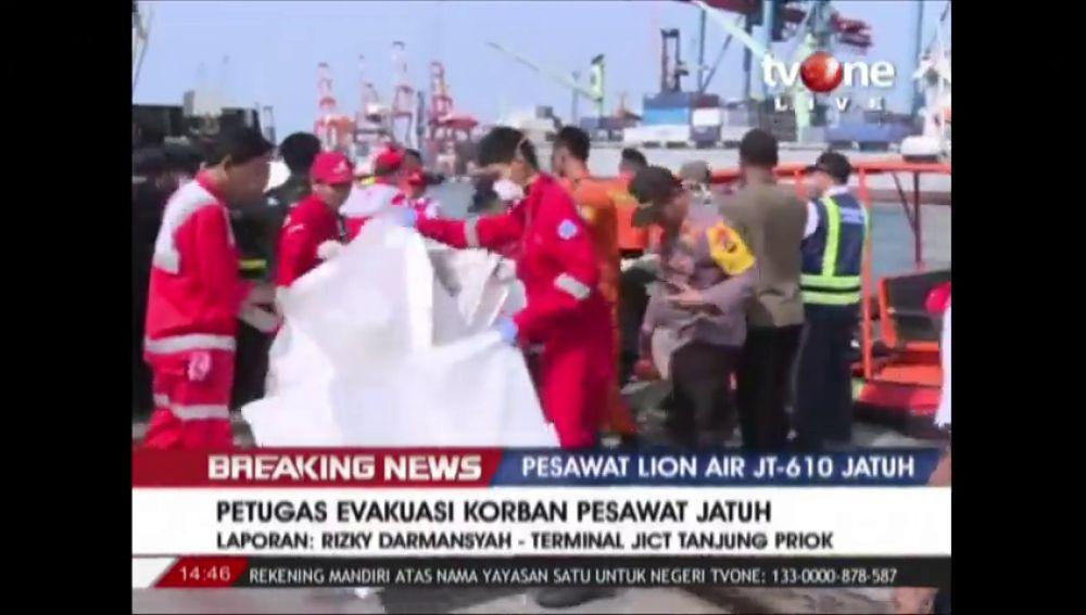 Hallan cadáveres entre los restos del avión de Lion Air estrellado frente a la isla indonesia de Sumatra