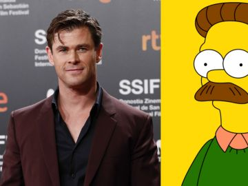 Chris Hemsworth y Ned Flanders