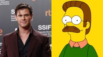Chris Hemsworth y Ned Flanders