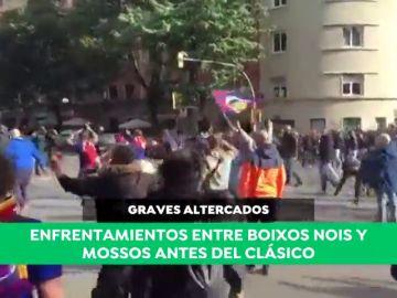 Graves altercados entre Boixos Nois y Mossos d'Esquadra antes del Clásico