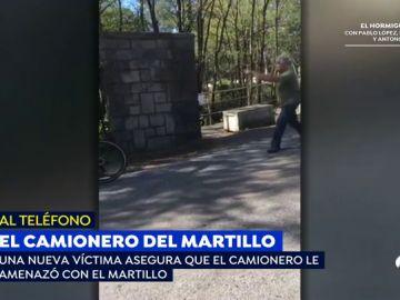 """Nueva víctima del camionero que agredió a dos ciclistas con un martillo: """"Marchad de aquí que os mato"""""""