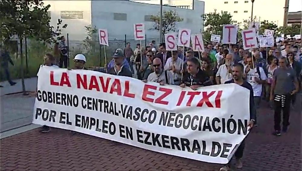 Trabajadores de la Naval esperan ser recolocados en Navantia