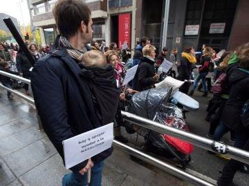 Imagen de las protestas en Pamplona