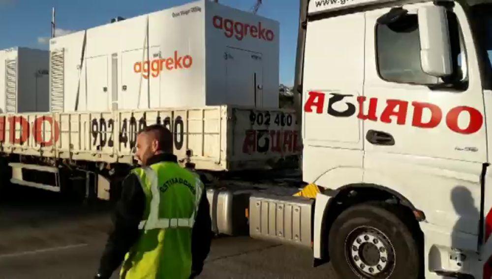 Llegan a Menorca 65 grupos electrógenos y efectivos de la UME