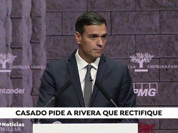 """Casado pide a Ciudadanos que recule y no facilite a Sánchez """"un mal presupuesto"""""""