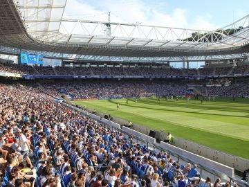 Vista del estadio de Anoeta