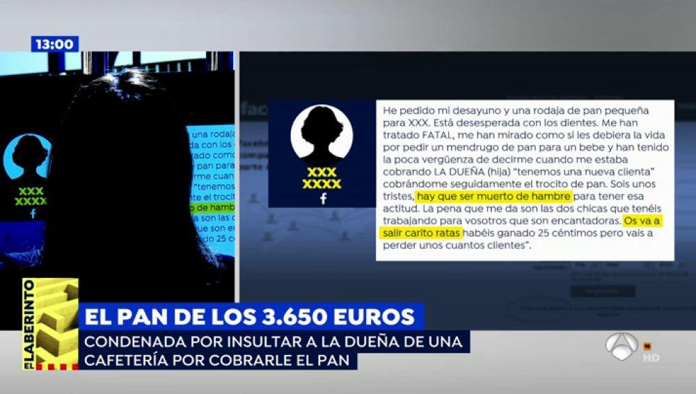 Condenada a pagar 3640 euros por una rebanada de pan que pidió para su bebé en una cafetería